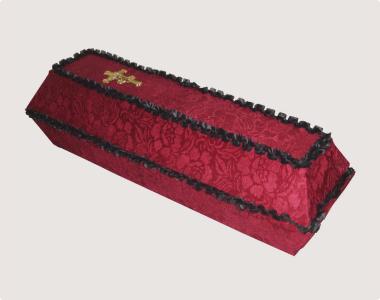 Гроб обитый тканью №01